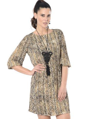 vestido corto recto liana