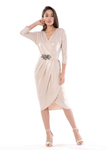 vestido corto ania plata
