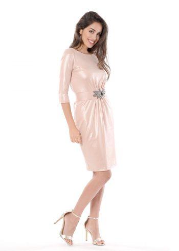 vestido corto venus rosa