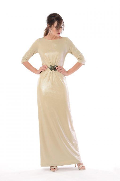 vestido largo agatha oro
