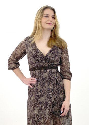 vestido estampado paisley