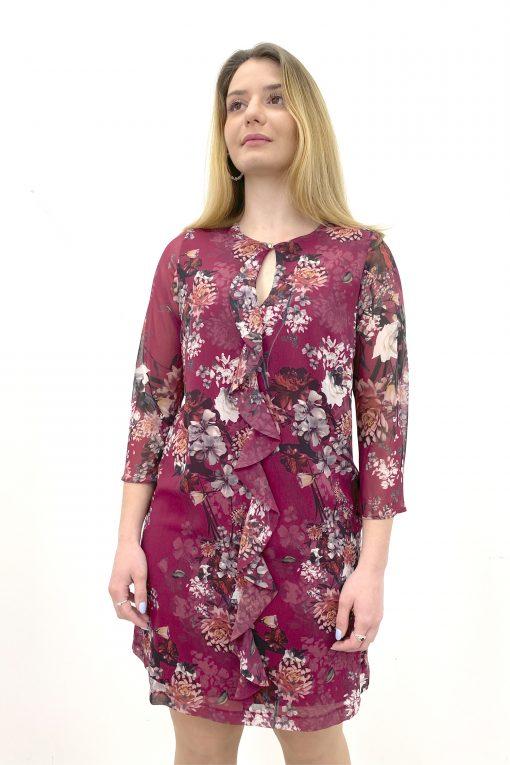vestido sofia carmin